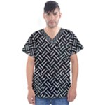 WOVEN2 BLACK MARBLE & ICE CRYSTALS (R) Men s V-Neck Scrub Top