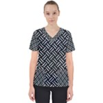 WOVEN2 BLACK MARBLE & ICE CRYSTALS (R) Scrub Top