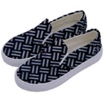 WOVEN2 BLACK MARBLE & ICE CRYSTALS (R) Kids  Canvas Slip Ons