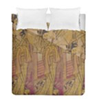Japanese Geisha with Cat illustration Duvet Cover Double Side (Full/ Double Size)