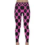 CIRCLES2 BLACK MARBLE & PINK BRUSHED METAL Classic Yoga Leggings
