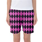 DIAMOND1 BLACK MARBLE & PINK BRUSHED METAL Women s Basketball Shorts