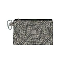 Animal Print Camo Pattern Canvas Cosmetic Bag (small)