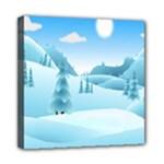 Landscape Winter Ice Cold Xmas Mini Canvas 8  x 8