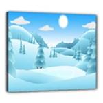 Landscape Winter Ice Cold Xmas Canvas 24  x 20