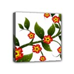 Flower Branch Nature Leaves Plant Mini Canvas 4  x 4