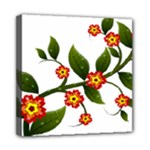Flower Branch Nature Leaves Plant Mini Canvas 8  x 8