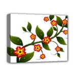 Flower Branch Nature Leaves Plant Deluxe Canvas 14  x 11