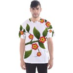 Flower Branch Nature Leaves Plant Men s Sports Mesh Tee