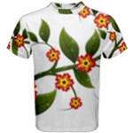 Flower Branch Nature Leaves Plant Men s Cotton Tee