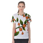 Flower Branch Nature Leaves Plant Women s Cotton Tee
