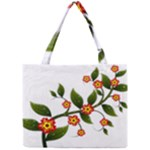 Flower Branch Nature Leaves Plant Mini Tote Bag