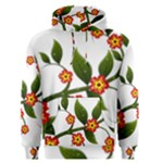 Flower Branch Nature Leaves Plant Men s Pullover Hoodie