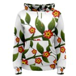 Flower Branch Nature Leaves Plant Women s Pullover Hoodie