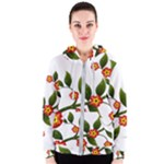 Flower Branch Nature Leaves Plant Women s Zipper Hoodie