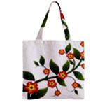Flower Branch Nature Leaves Plant Zipper Grocery Tote Bag