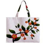 Flower Branch Nature Leaves Plant Zipper Mini Tote Bag