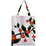 Flower Branch Nature Leaves Plant Zipper Classic Tote Bag