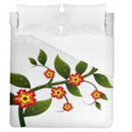 Flower Branch Nature Leaves Plant Duvet Cover (Queen Size)