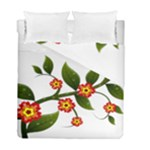 Flower Branch Nature Leaves Plant Duvet Cover Double Side (Full/ Double Size)