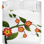Flower Branch Nature Leaves Plant Duvet Cover Double Side (King Size)