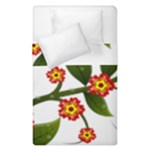 Flower Branch Nature Leaves Plant Duvet Cover Double Side (Single Size)
