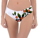 Flower Branch Nature Leaves Plant Reversible Classic Bikini Bottoms