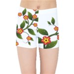 Flower Branch Nature Leaves Plant Kids Sports Shorts