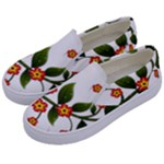 Flower Branch Nature Leaves Plant Kids  Canvas Slip Ons