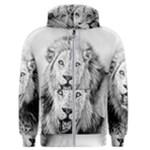 Lion Wildlife Art And Illustration Pencil Men s Zipper Hoodie
