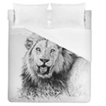 Lion Wildlife Art And Illustration Pencil Duvet Cover (Queen Size)