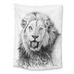 Lion Wildlife Art And Illustration Pencil Medium Tapestry