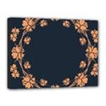 Floral Vintage Royal Frame Pattern Canvas 16  x 12