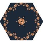 Floral Vintage Royal Frame Pattern Mini Folding Umbrellas
