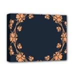 Floral Vintage Royal Frame Pattern Deluxe Canvas 14  x 11