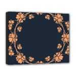 Floral Vintage Royal Frame Pattern Deluxe Canvas 20  x 16