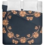 Floral Vintage Royal Frame Pattern Duvet Cover Double Side (King Size)
