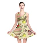 Colored Afternoon Tea Pattern Reversible Skater Dress