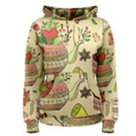 Colored Afternoon Tea Pattern Women s Pullover Hoodie