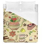 Colored Afternoon Tea Pattern Duvet Cover (Queen Size)