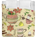 Colored Afternoon Tea Pattern Duvet Cover Double Side (King Size)