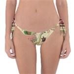 Colored Afternoon Tea Pattern Reversible Bikini Bottom