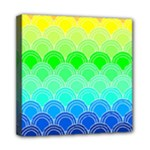 art deco rain bow Mini Canvas 8  x 8