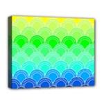 art deco rain bow Deluxe Canvas 20  x 16