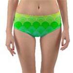 art deco rain bow Reversible Mid-Waist Bikini Bottoms