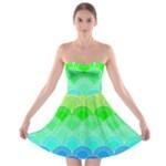 art deco rain bow Strapless Bra Top Dress
