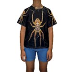 Insect Macro Spider Colombia Kids  Short Sleeve Swimwear