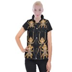 Insect Macro Spider Colombia Women s Button Up Puffer Vest