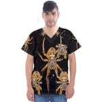 Insect Macro Spider Colombia Men s V-Neck Scrub Top