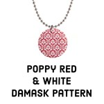 Poppy Red Damask Pattern